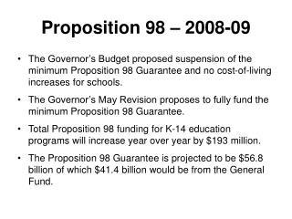 Proposition 98 – 2008-09
