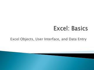Excel: Basics