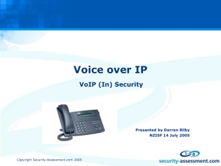 Voice over IP VoIP and the Session Initiation Protocol SIP