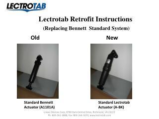 Lectrotab Retrofit Instructions (Replacing Bennett  Standard System)