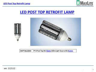 LED Post top retrofit lamp