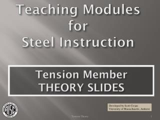 Teaching Modules for  Steel Instruction