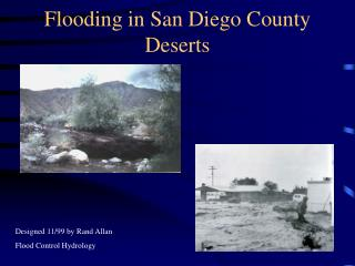 Flooding in San Diego County Deserts