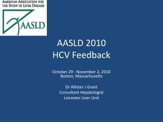 AASLD 2010  HCV Feedback