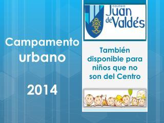 Campamento urbano 2014
