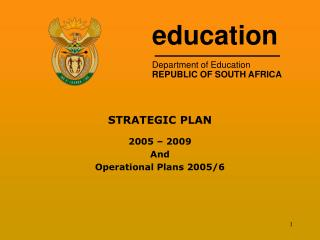 education Department of Education REPUBLIC OF SOUTH AFRICA