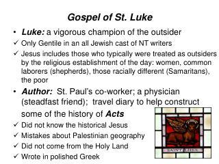 Gospel of St. Luke