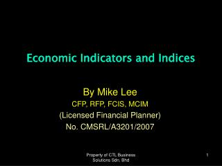 Economic Indicators and Indices