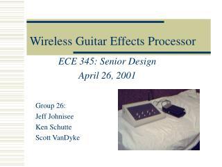 Wireless Guitar Effects Processor