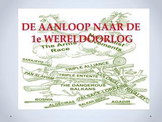 DE AANLOOP NAAR DE  1e WERELDOORLOG
