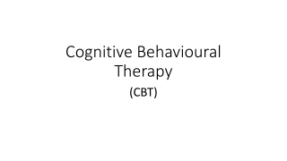 CBT for Complex Anxiety  Disorder Cases