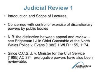 Judicial Review 1