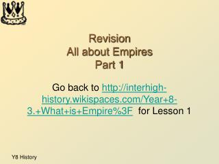 Revision All about Empires Part 1