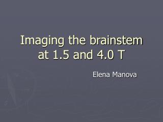 Imaging the brainstem at 1.5 and 4.0 T