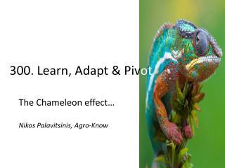 3 00. Learn, Adapt & Piv ot
