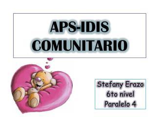 APS-IDIS COMUNITARIO