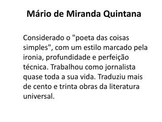 Mário de Miranda Quintana