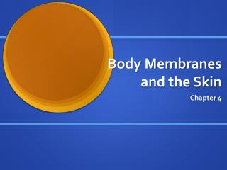 Body Membranes and the Skin