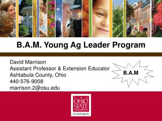 B.A.M. Young Ag Leader Program
