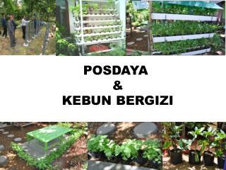 POSDAYA  &  KEBUN BERGIZI