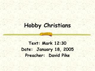 Hobby Christians