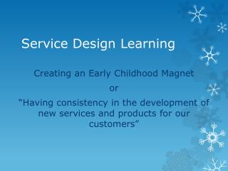 Service Design Learning