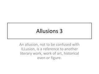 Allusions 3