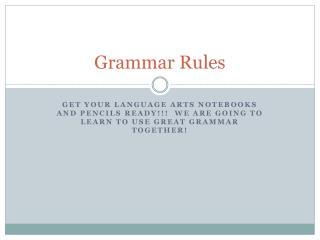 Grammar Rules