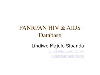 FANRPAN HIV & AIDS  Database