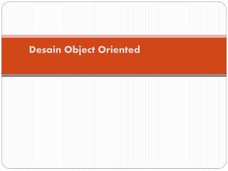 Desain Object Oriented