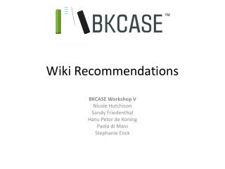 Wiki Recommendations