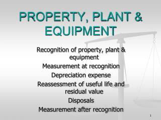 PROPERTY, PLANT & EQUIPMENT
