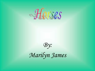 By: Marilyn James