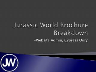 Jurassic World Brochure Breakdown