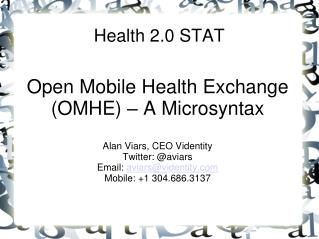 Health 2.0 STAT