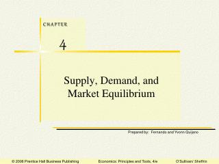 Supply, Demand, and Market Equilibrium