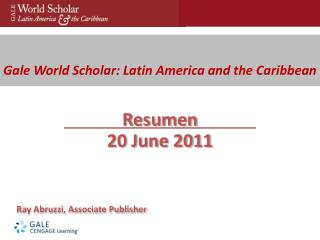 Gale World Scholar: Latin America and the Caribbean