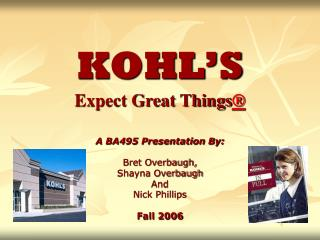 KOHL S Expect Great Things
