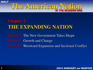 Chapter 2  THE EXPANDING NATION