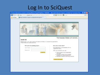 Log In to SciQuest