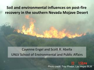 Soil and environmental influences on post-fire recovery in the southern Nevada Mojave Desert