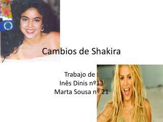 Cambios de Shakira