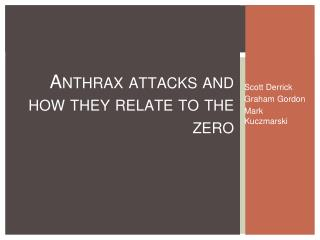 Anthrax attacks and how they relate to the zero