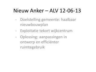 Nieuw Anker – ALV 12-06-13