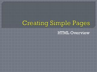 Creating Simple Pages