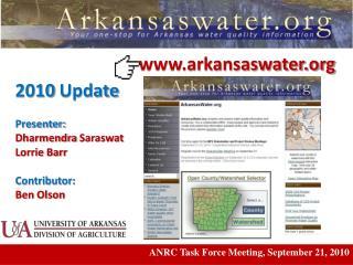 ANRC Task Force Meeting, September 21, 2010