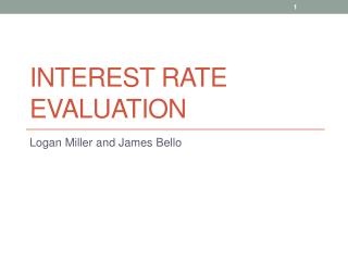 Interest Rate Evaluation
