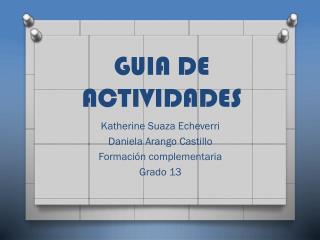 GUIA DE ACTIVIDADES