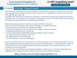 aovverzekeringvergelijken.nl