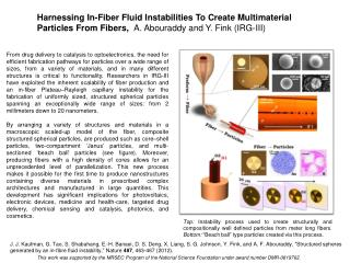 Harnessing  I n-Fiber  F luid  I nstabilities  T o Create  M ultimaterial